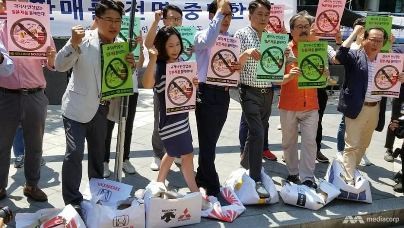 South Koreans call for boycott of Japanese products amid wartime labour dispute