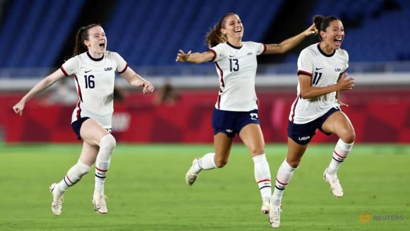 Olympics-Soccer-US women advance to semis with shootout win over Netherlands