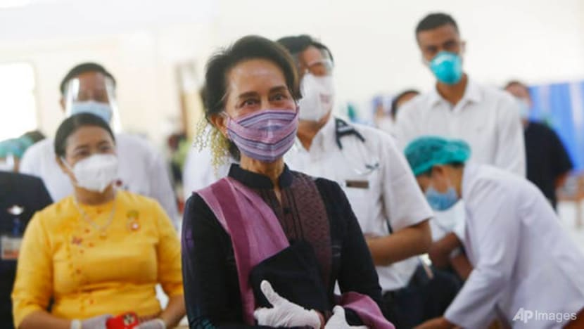 Myanmar health workers receive first COVID-19 vaccinations