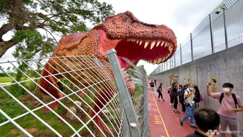 New 3.5km path linking Changi Airport and East Coast Park opens, featuring dinosaur exhibits