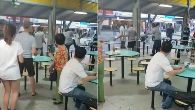 Two men arrested over scuffle at Toa Payoh Hawker Centre