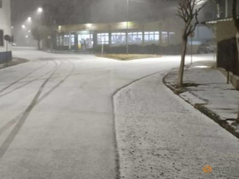 Seeing snow for the first time at 62: Brazilians revel in icy snap