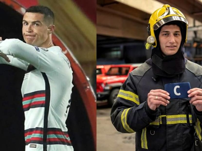 Serbia's firefighters auction Ronaldo's armband to help sick infant