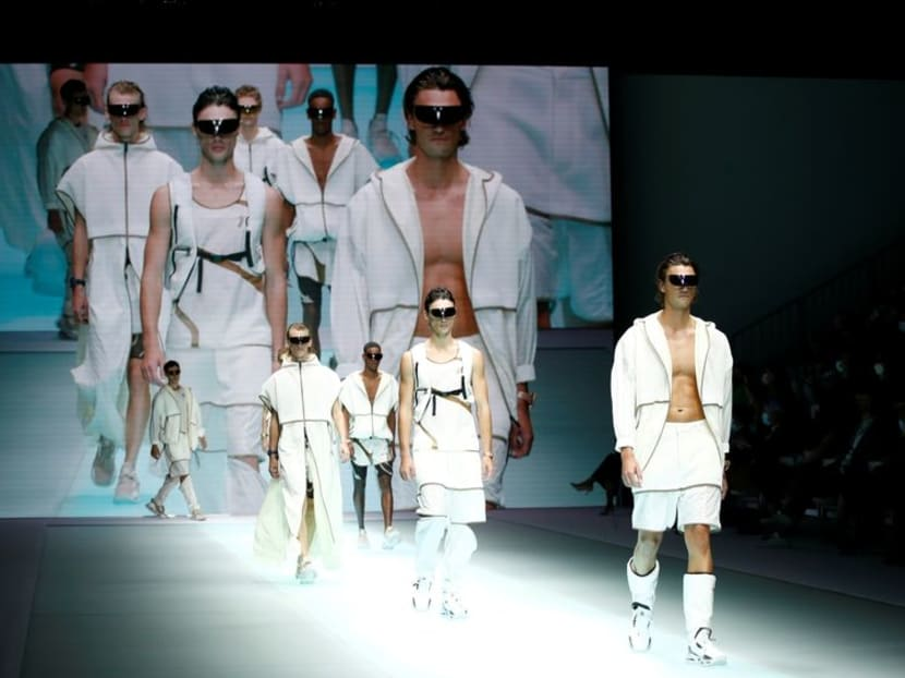 Emporio Armani marks 40 years with soft, fluid spring collection