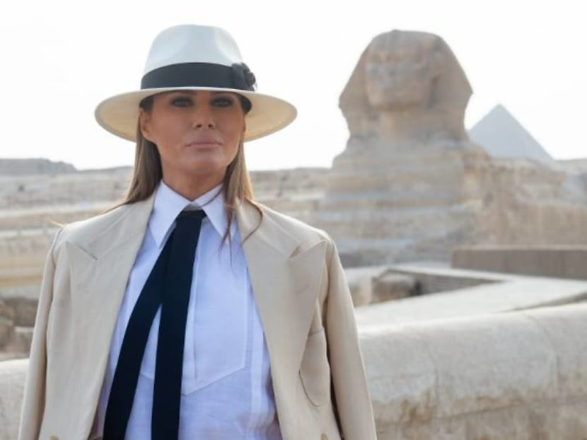 Melania Trump draws flak for her choice of attire – again, this time in Egypt