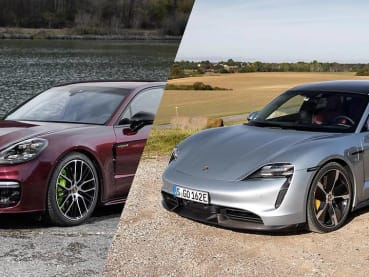 Which is a better-value buy, a Porsche Panamera or a Porsche Taycan?