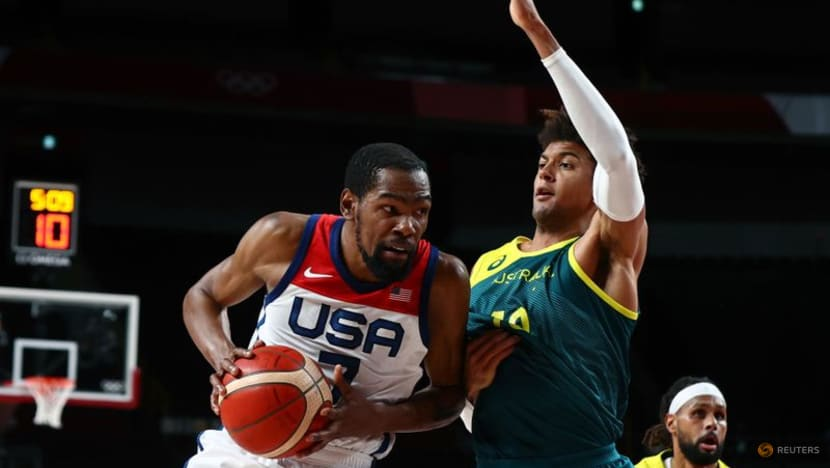 Olympics-Basketball-Durant powers Team USA to rematch with France for gold medal