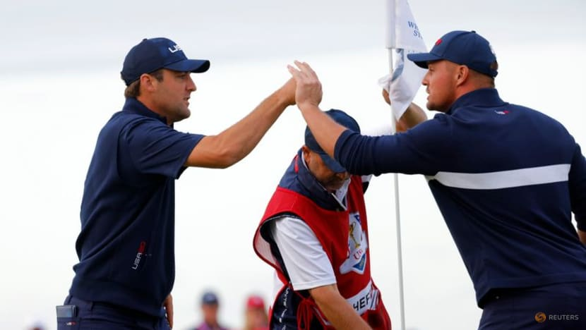 DeChambeau to face Garcia in Sunday's singles as US close on Ryder Cup win