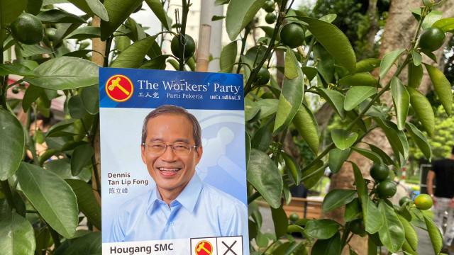 【新加坡大选 】选举局证实 陈立峰竞选海报曾被投诉