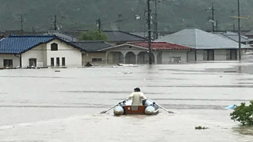 Japan's flood hero: 20 lives saved in a blow-up boat