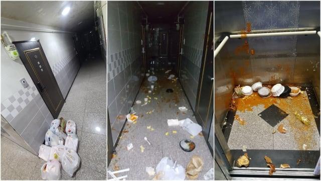 女子花100万韩元订餐 送到不吃竟泼洒公寓各处