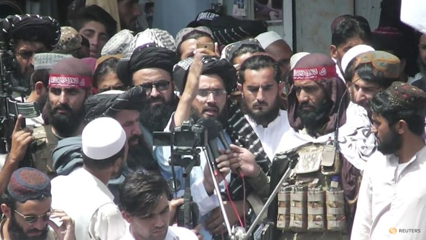 Taliban supporters hold mock US funeral as troops leave Afghanistan