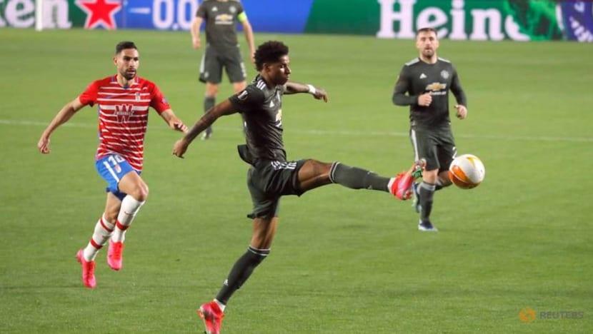 Football: Rashford and Fernandes give United one foot in Europa semis