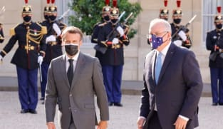 French, Australian leaders have first talk since sub fallout