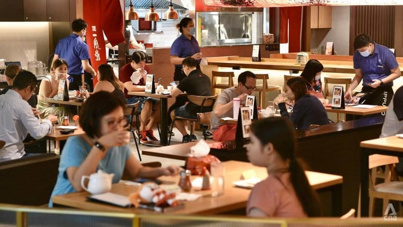 F&B outlets 'very happy' to resume dine-in amid 'challenging' two-people rule