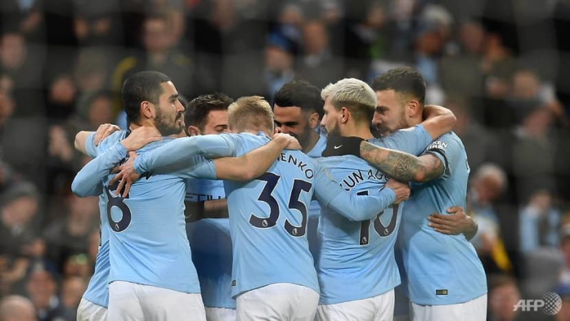 Football: Sterling hat-trick takes City four clear