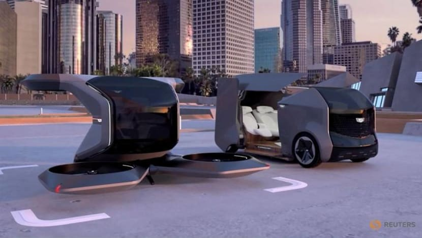 Look, up in the sky - it's a flying Cadillac! GM unveils futuristic vehicle