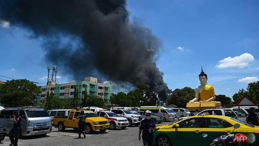 1 killed in Thai factory blast that was felt at Bangkok airport