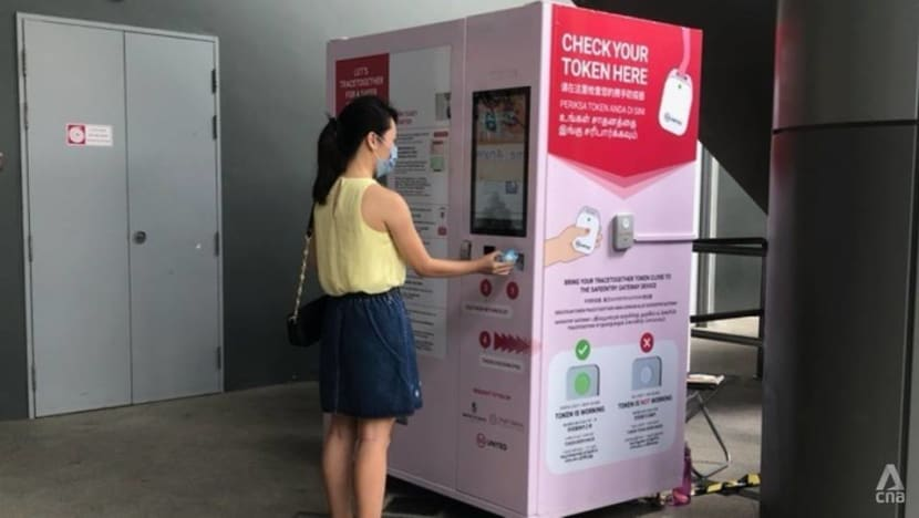 TraceTogether vending machines for replacement tokens rolled out at NEX and Sun Plaza