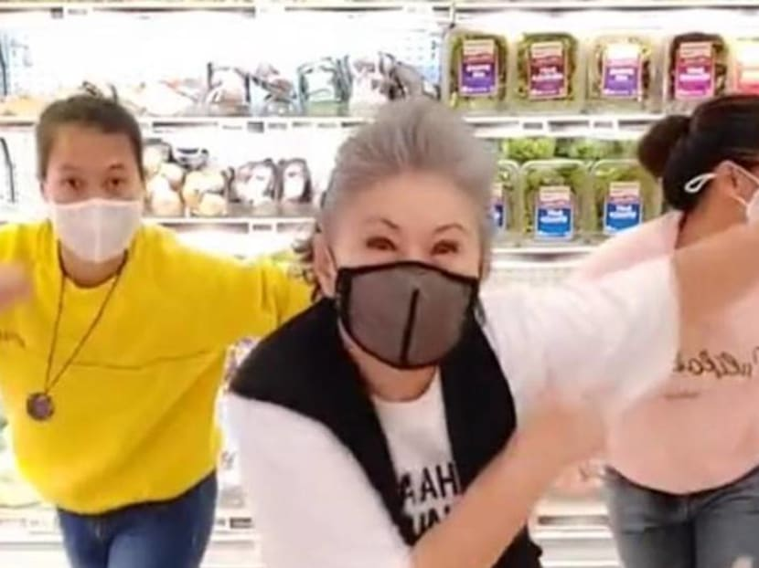 Veteran actress Jin Yinji dances to BTS in TikTok video, perfectly executes high kick