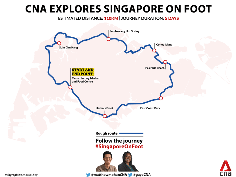 110km, five days, two reporters: CNA sets out to explore Singapore on foot