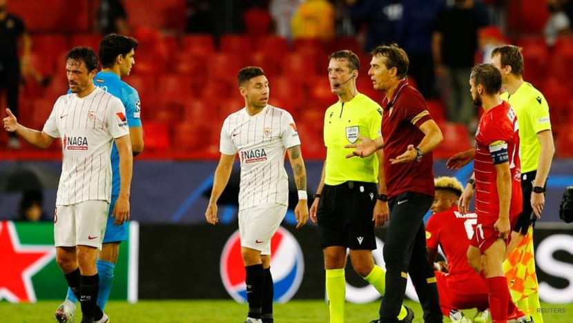 Football: Sevilla draw with Salzburg after four first-half penalties awarded