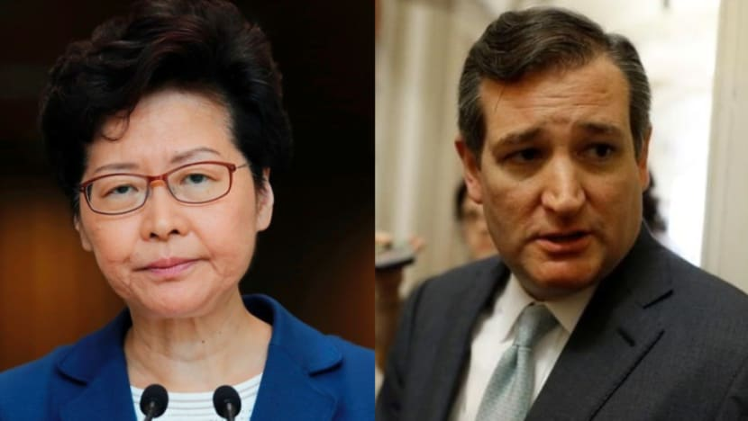 Hong Kong leader Carrie Lam ditches meeting Ted Cruz, says the US senator