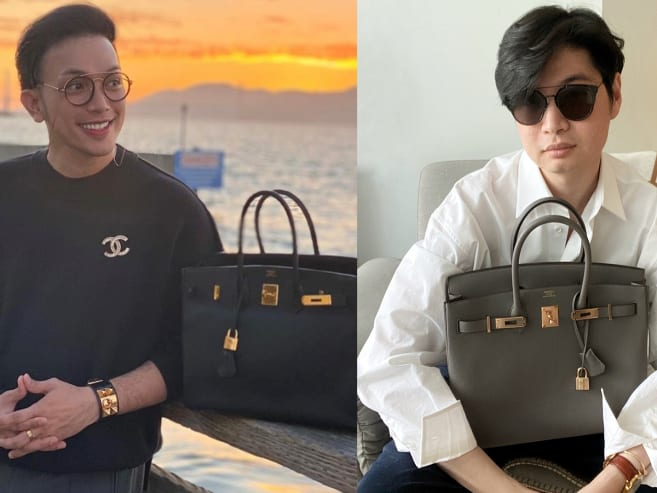 Across Asia, why are more men carrying women's handbags?