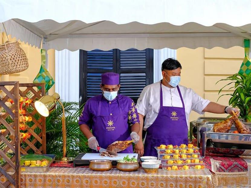 This Hari Raya Haji, enjoy an al fresco buffet with outdoor carving station