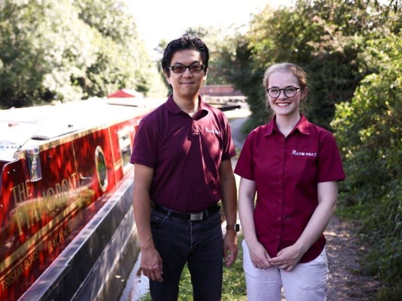 Water music: London canal boat serves as floating concert hall