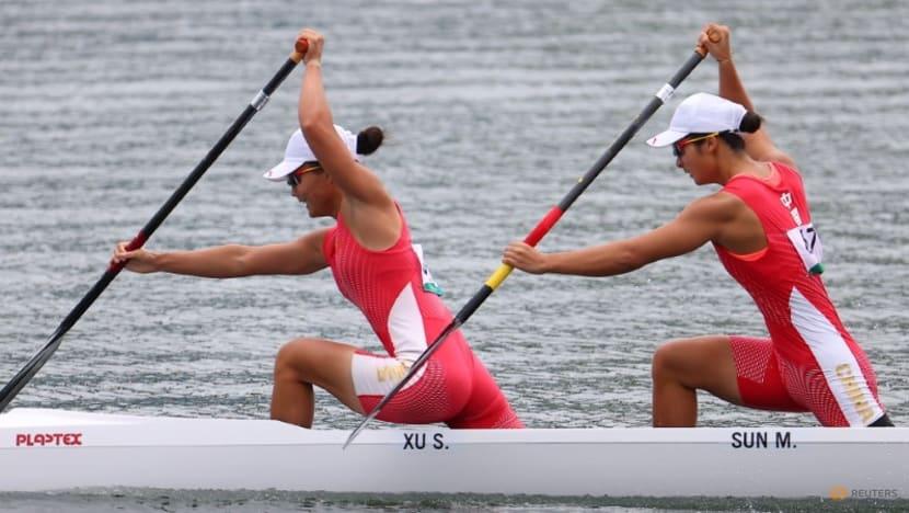 Olympics-Canoe sprint-China's Xu and Sun win women's canoe double 500m gold