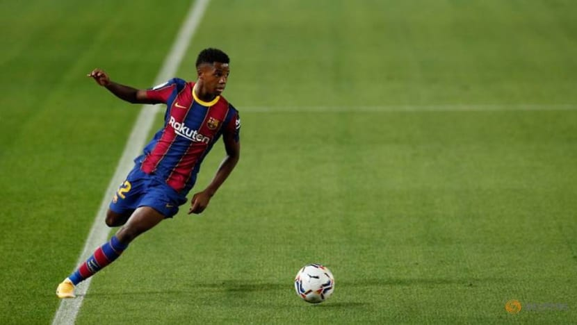 Football: Barcelona's Fati out for four months after knee surgery