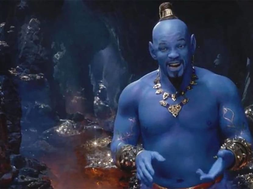 Fans do not love blue Will Smith in the new Aladdin trailer