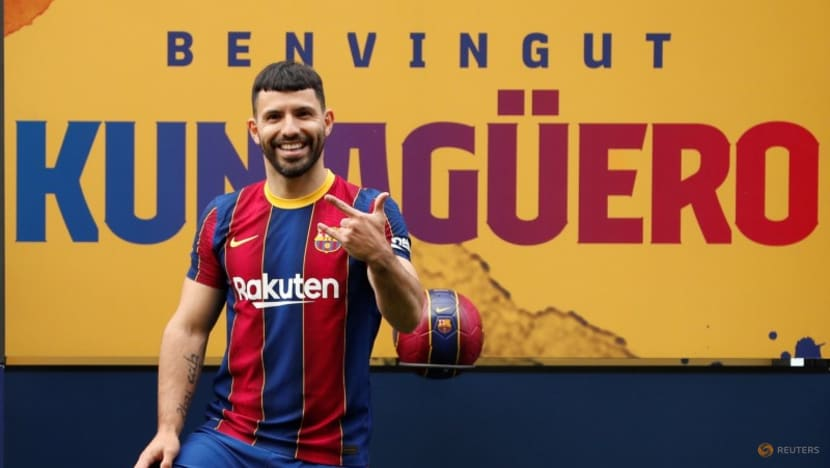 Soccer-More problems for Barca as Aguero ruled out for 10 weeks