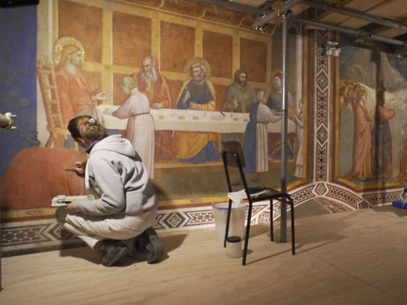 Restorers save Giotto frescoes in Assisi's Chapel of the Magdalene