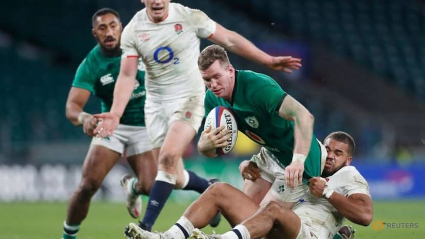 Rugby-Spectacular May try helps England see off Ireland
