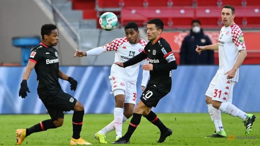 Football: Leverkusen squander two-goal lead to draw 2-2 with Mainz