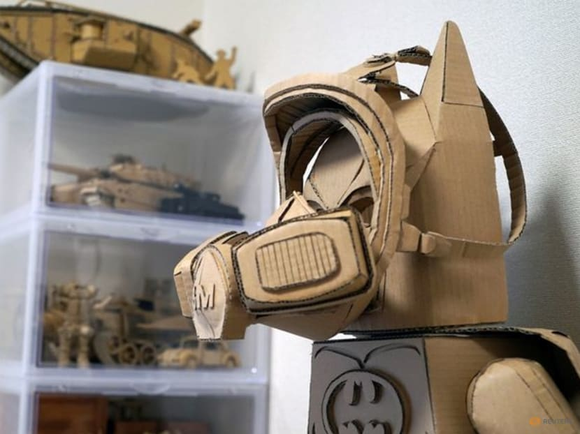 Thinking out of the box: Japanese artist makes life-like cardboard sculptures