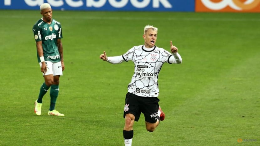 Guedes double against old club gives Corinthians derby win