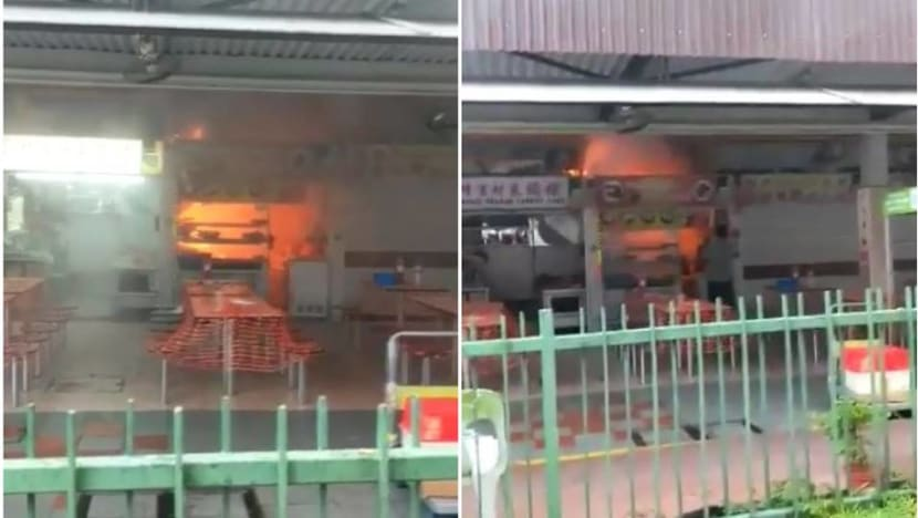 Fire breaks out at Changi Village Hawker Centre