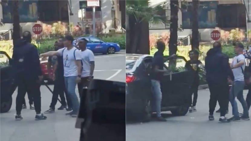 5 men arrested after fight along Orchard Road