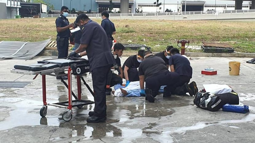 10 people suffer burns after 'loud explosion' at Tuas industrial building