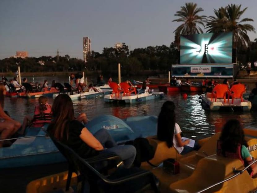 You've heard of a drive-in cinema, check out Israel's 'sail-in' version
