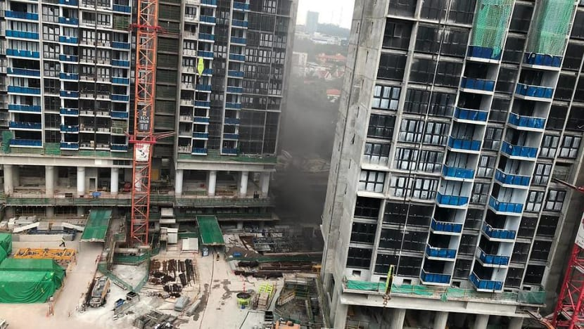8 people taken to hospital after fire at condominium construction site in West Coast