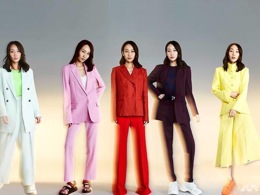 Reinventing the classic: Crazy Rich Asians' Constance Lau takes the coloured suit challenge