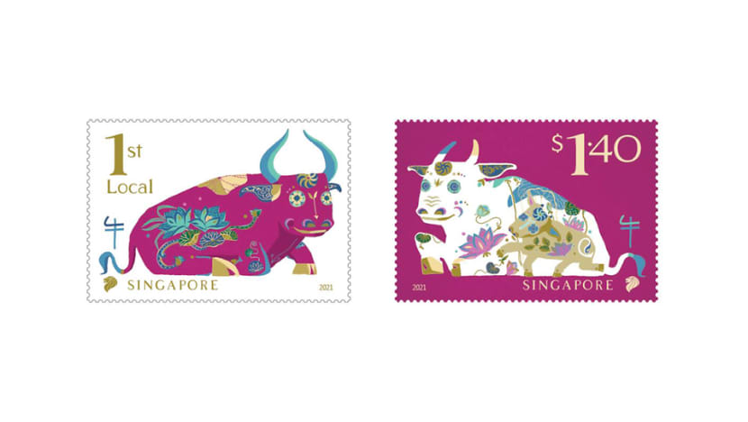 SingPost issues ox-themed stamps for Chinese New Year