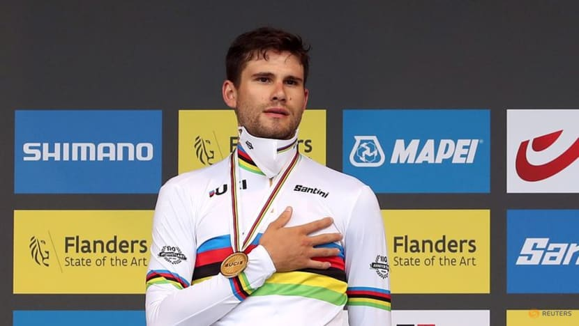 Cycling: Ganna breaks Belgian hearts to retain time trial title