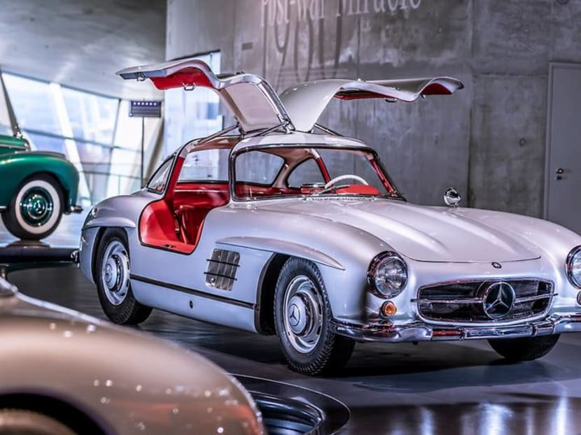 Catch a glimpse of Mercedes-Benz's most famous cars in this drone video