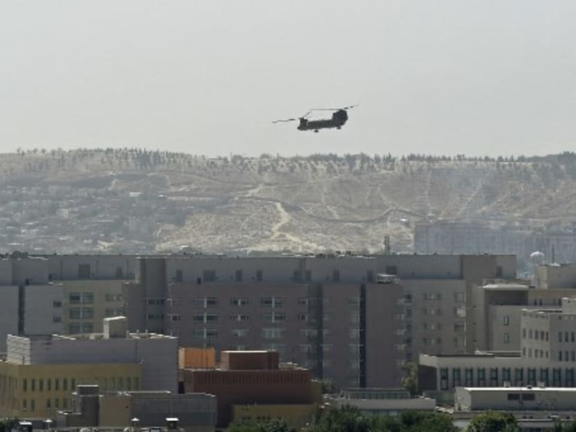 US strikes Islamic State target in Afghanistan, pushes airlift into final stage