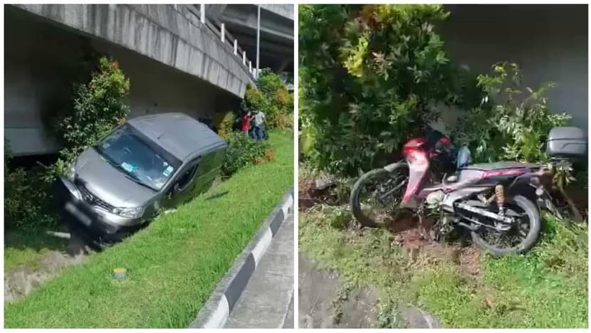 Van driver arrested after accident with motorcycle at Keppel Road